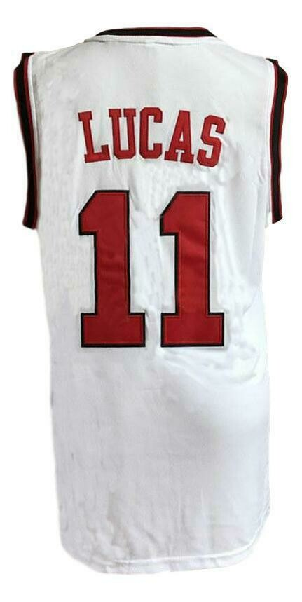 Jerry Lucas #11 College Basketball Jersey White
