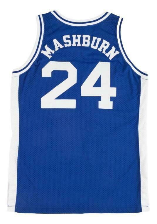 Jamal Mashburn #24 College Basketball Jersey New Sewn Blue