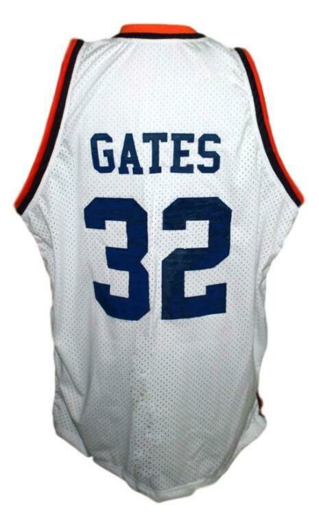Hoop Dreams Curtis Gates Colby Basketball Jersey White