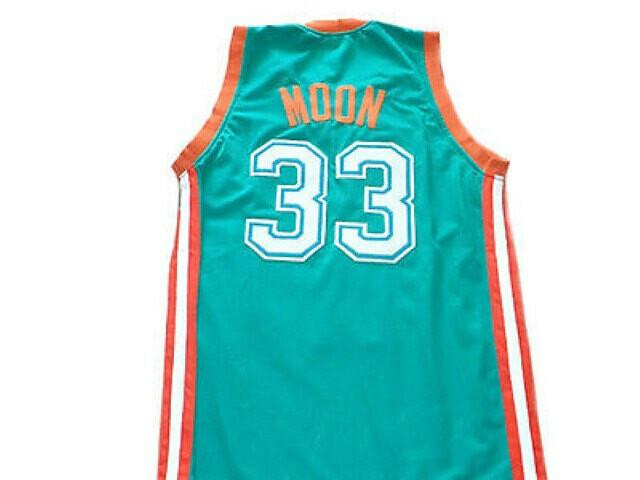 Jackie Moon #33 Flint Tropics Semi Pro Basketball Jersey Teal Green
