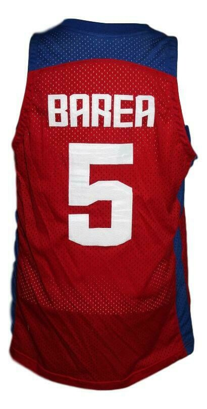 J.J.Barea #5 Puerto Rico Custom Basketball Jersey Red