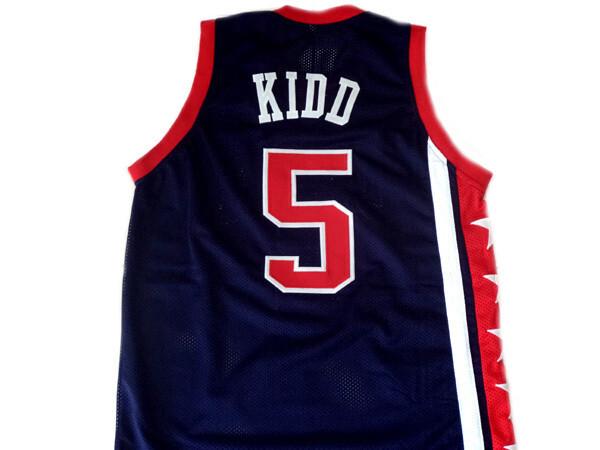Jason Kidd #5 Team USA Basketball Jersey Navy Blue