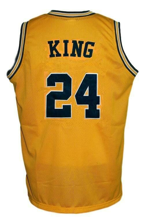 Jimmy King #24 College Retro Basketball Jersey Sewn Gold