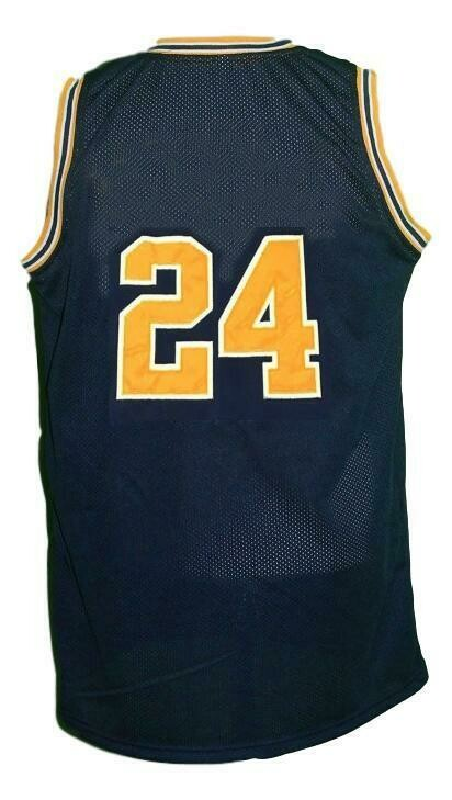 Jimmy King #24 College Retro Basketball Jersey Sewn Navy Blue