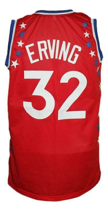 Julius Erving #32 Aba East All Stars Basketball Jersey Sewn Red