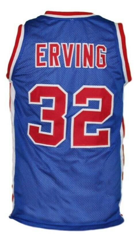Julius Erving #32 Virginia Squires ABA Basketball Jersey Blue