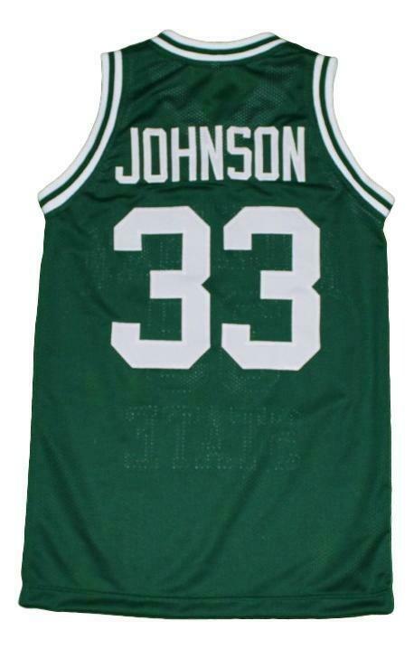 Magic Johnson #33 Michigan State Basketball Jersey Green