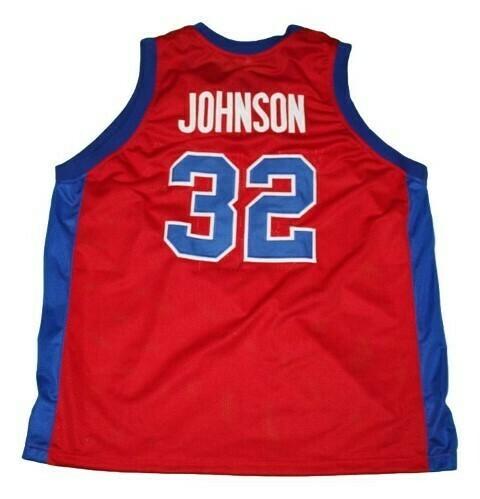 Magic Johnson #32 Vikings Basketball Jersey Red