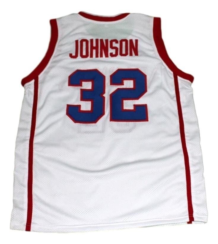 Magic Johnson #32 Vikings High School Basketball Jersey White