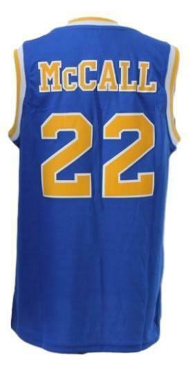 McCall #22 Crenshaw High Love And Basketball Jersey Blue