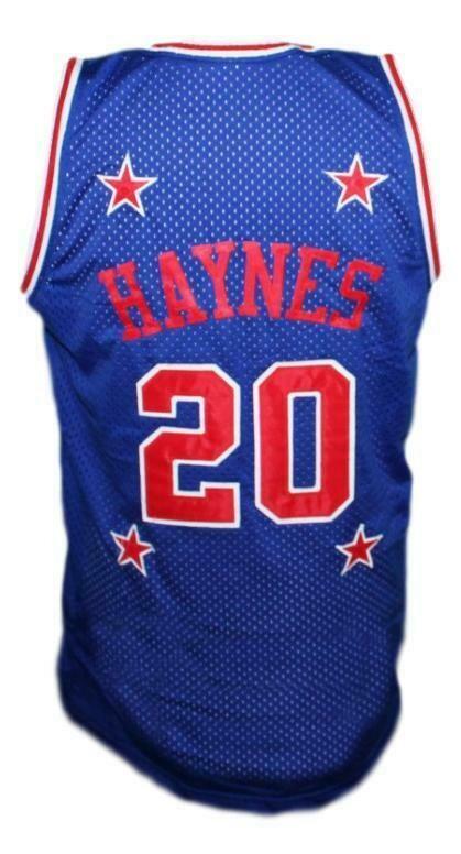 Mark Haynes #20 Harlem Magicians Basketball Jersey Sewn Blue