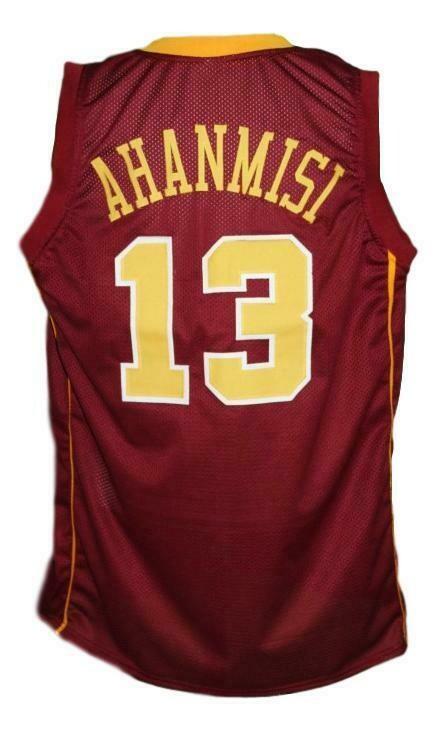 Maverick Ahanmisi #13 Custom College Basketball Jersey Maroon
