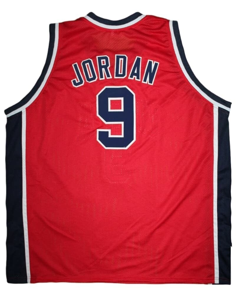 Michael Jordan #9 Team USA Basketball Jersey Red