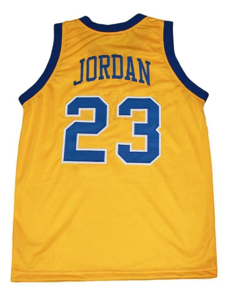 Michael Jordan #23 Laney High School Basketball Jersey Yellow