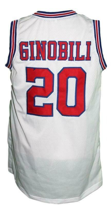 Manu Ginobili #20 Dallas Chaps Retro Basketball Jersey White