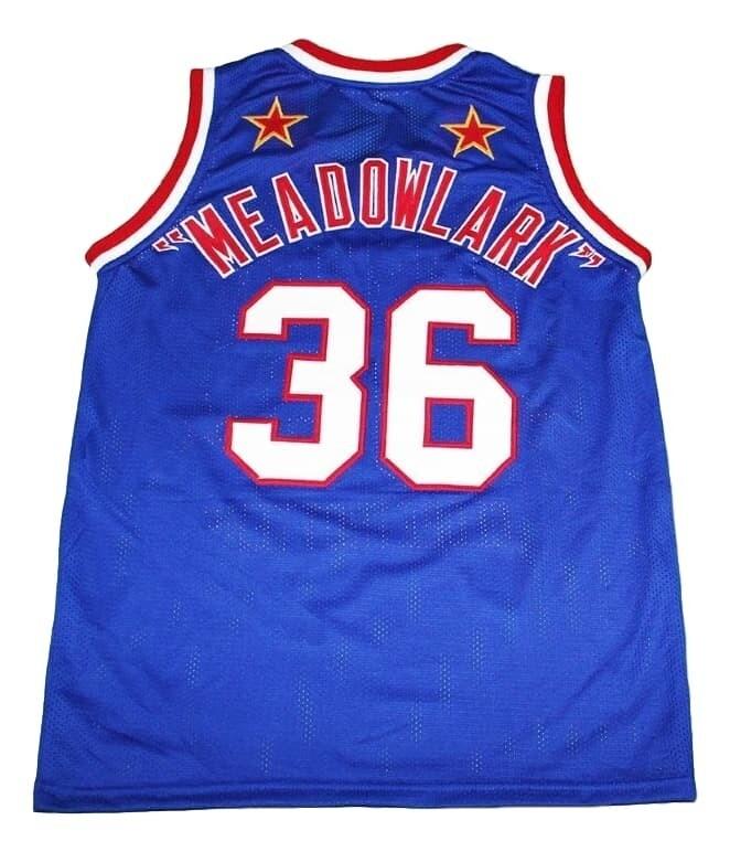 Meadowlark #36 Harlem Globetrotters Basketball Jersey Blue