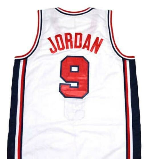 Michael Jordan #9 Team USA Basketball Jersey White