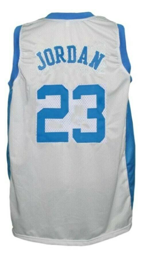 Michael Jordan #23 College Basketball Jersey White