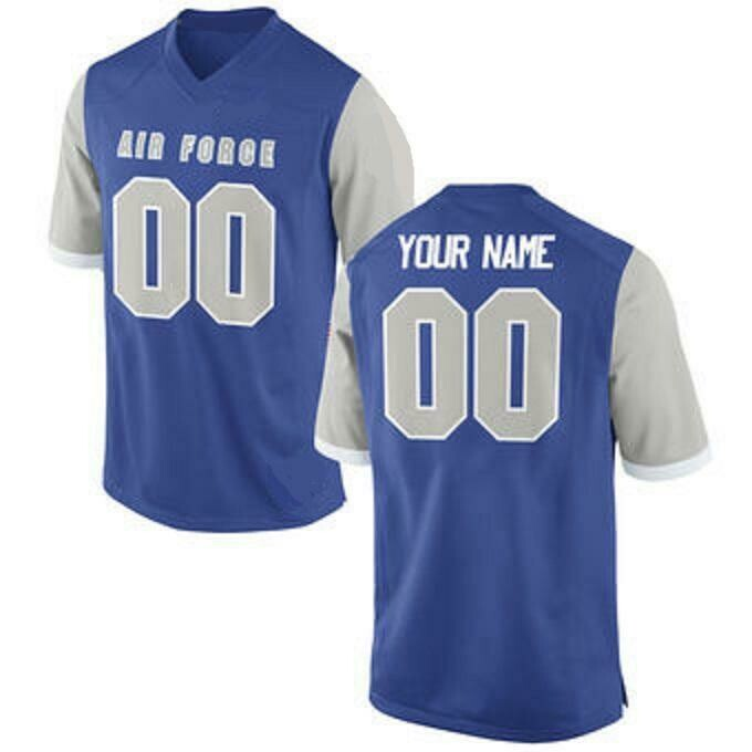Air Force Falcons Style Customizable Football Jersey Style 1