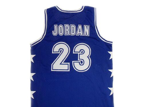Michael Jordan #23 McDonald's All American Basketball Jersey Blue
