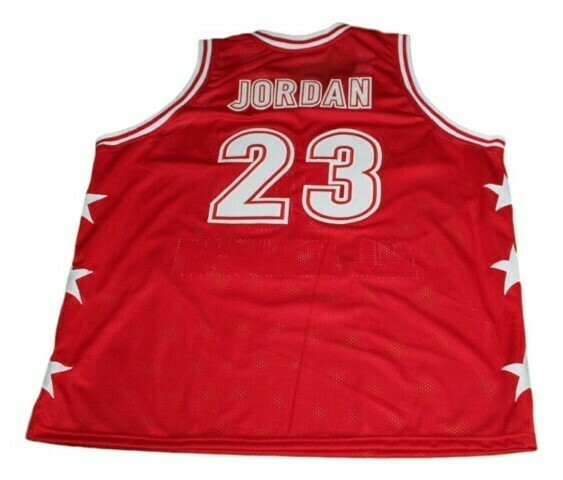 Michael Jordan #23 McDonald's All American Basketball Jersey Red