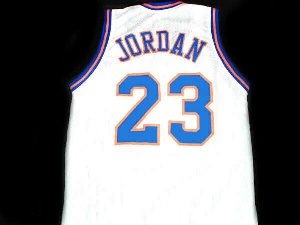 Michael Jordan #23 Tune Squad Space Jam Basketball Jersey White
