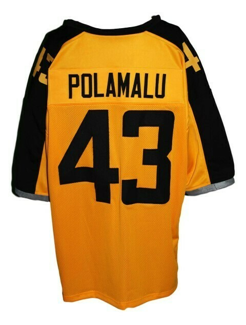Troy Polamalu #43 Gotham Rogues New Football Jersey Yellow