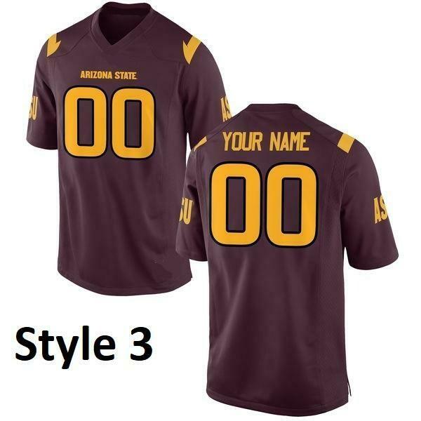Arizona State Sun Devils Customizable College Style Football Jersey Style 3