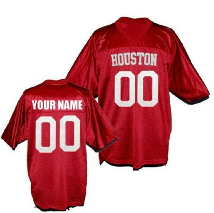 Houston Cougars Customizable College Football Jersey Style 2