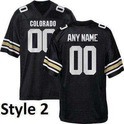 Colorado Buffaloes Customizable College Football Jersey Style 2