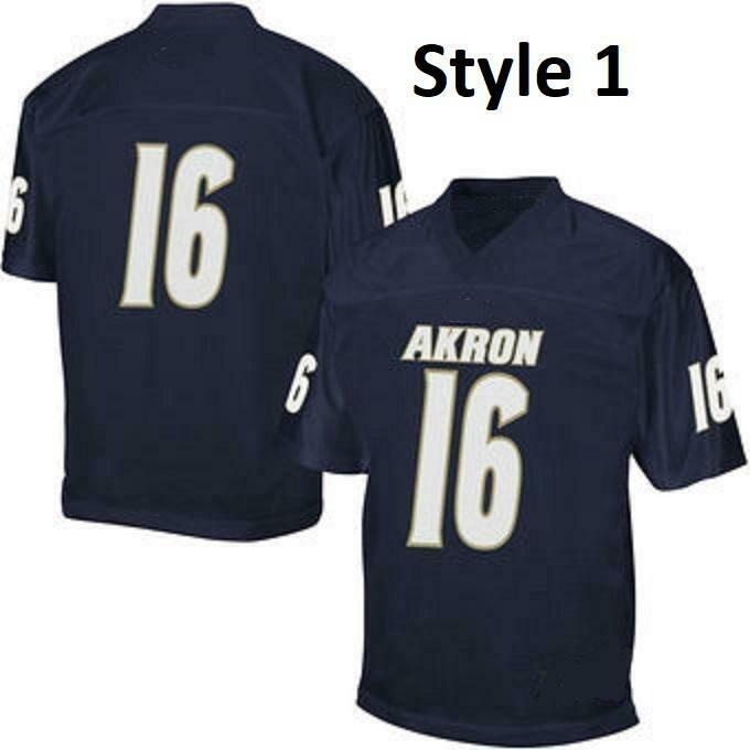 Akron Zips Football Customizable College Jersey Style 1