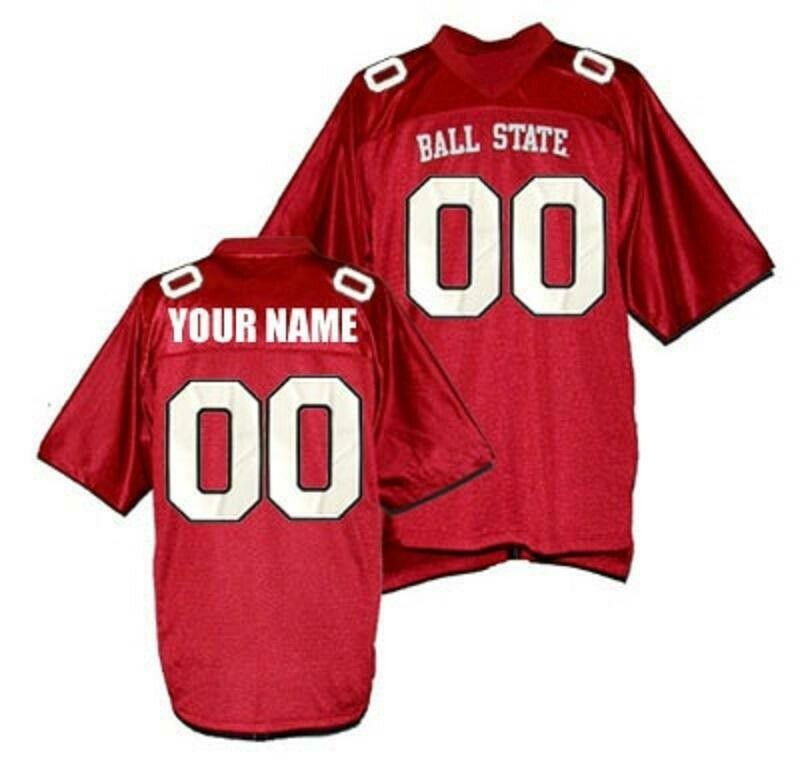 Ball State Style Customizable College Football Jersey