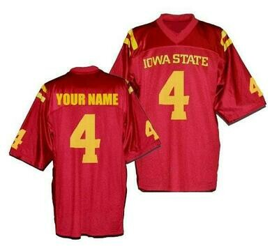 Iowa State Cyclones Customizable College Football Jersey