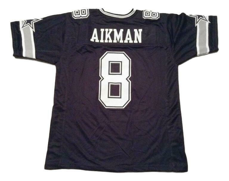 Troy Aikman CUSTOM STITCHED Unsigned Football Jersey Navy Blue