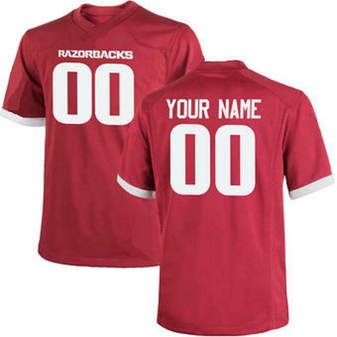 Arkansas Razorbacks Customizable College Style Football Jersey Style 2