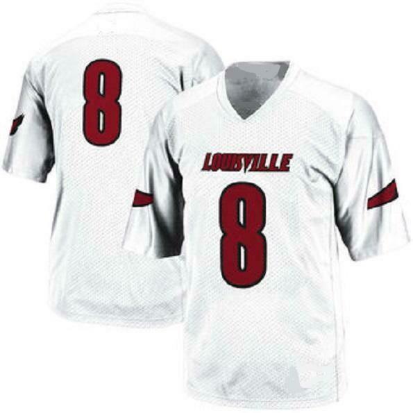 Louisville Cardinals Customizable College Football Jersey Style 1