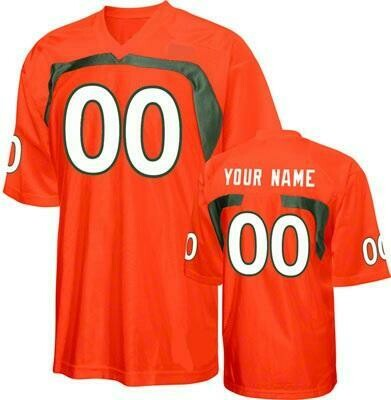 Miami Hurricanes Customizable College Football Jersey Style 3