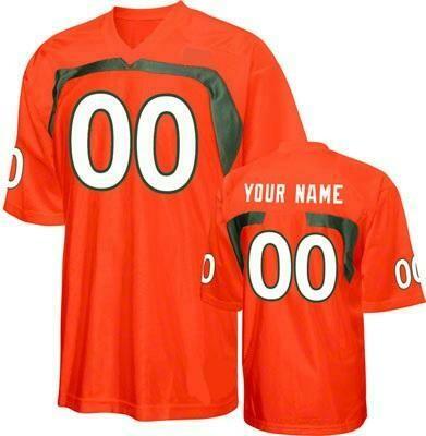Miami Hurricanes Customizable College Football Jersey Style 3