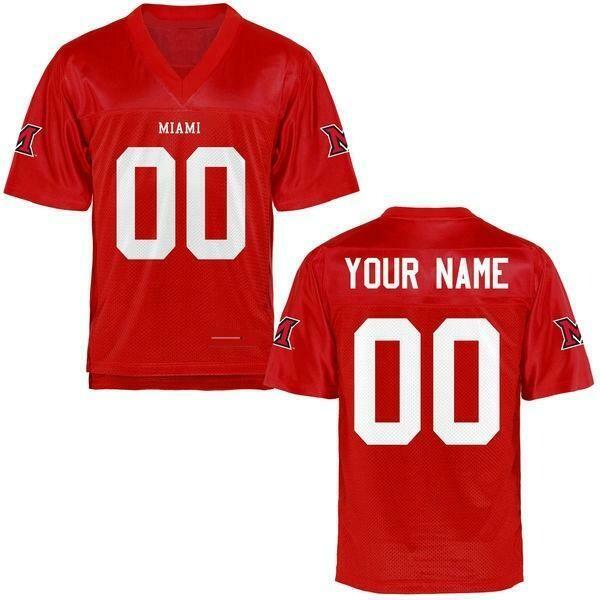 Miami University RedHawks Customizable Football Jersey