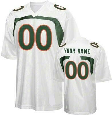 Miami Hurricanes Customizable College Football Jersey Style 2