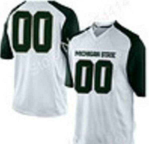 Michigan State Spartans Style Customizable Football Jersey Style 2