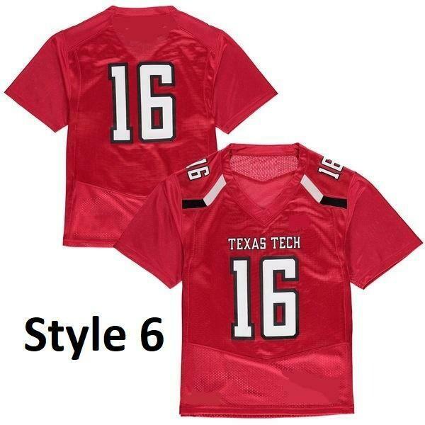 Texas Tech Red Raiders Style Customizable Football Jersey Style 5