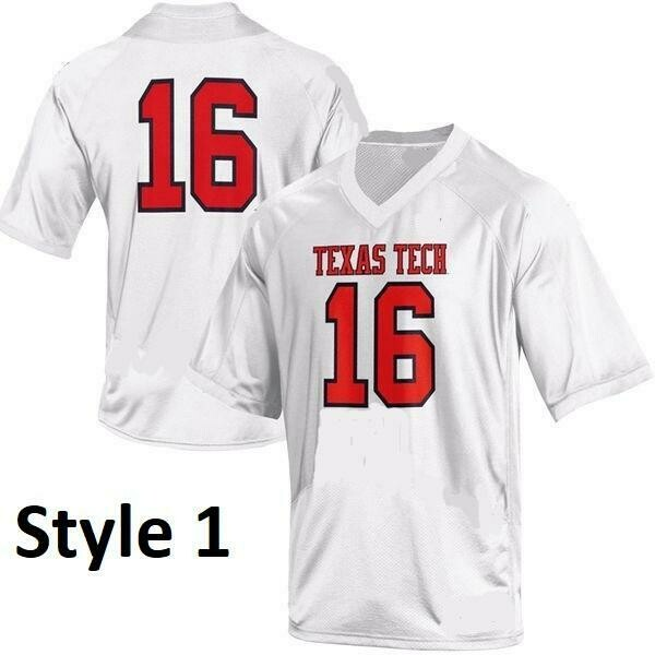 Texas Tech Red Raiders Style Customizable Football Jersey Style 6