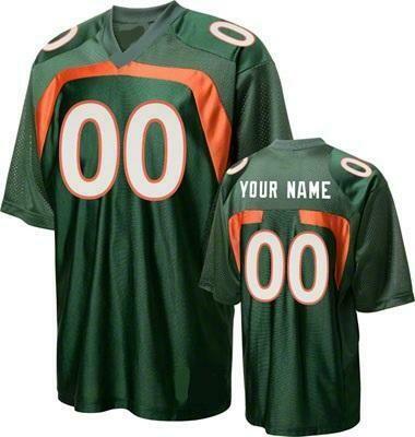 Miami Hurricanes Customizable College Football Jersey Style 4