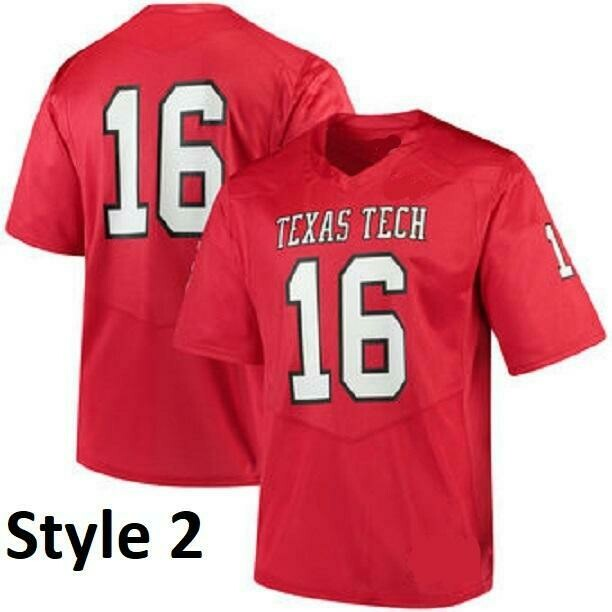Texas Tech Red Raiders Style Customizable Football Jersey Style 1