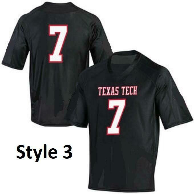 Texas Tech Red Raiders Style Customizable Football Jersey Style 2