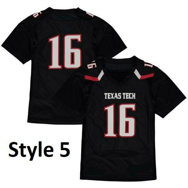 Texas Tech Red Raiders Style Customizable Football Jersey Style 4