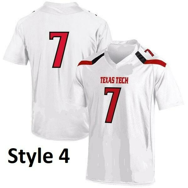 Texas Tech Red Raiders Style Customizable Football Jersey Style 3