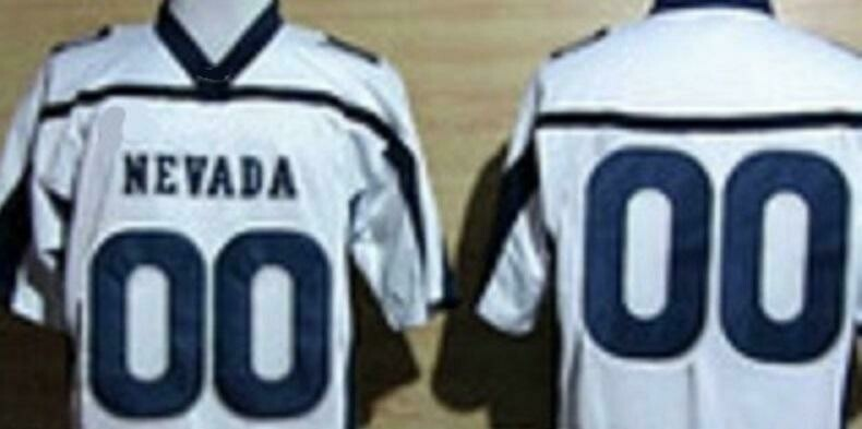 Nevada Wolf Pack Custom Name and Number College Football Jersey White