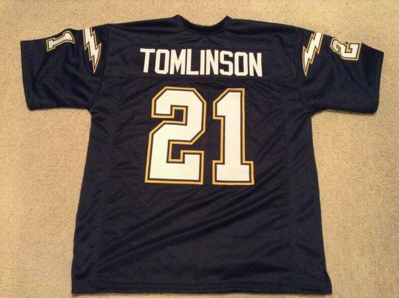 Ladainian Tomlinson UNSIGNED CUSTOM Made Blue Jersey